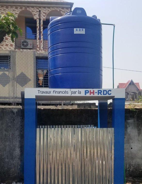 chateau d'eau de du CME Barumbu apres le projet 4